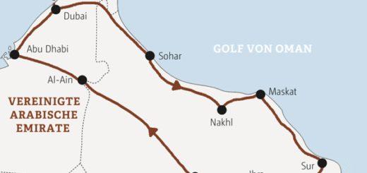 Zwölf Tage zu den Highlights der Emirate und des Oman