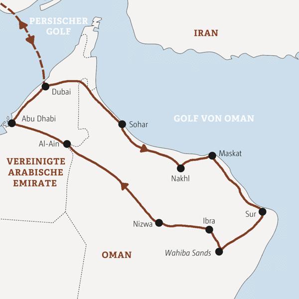 Emirate – Oman Rundreisen 2016 / 2017