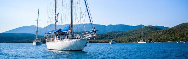 Segeln vor der griechischen Küste