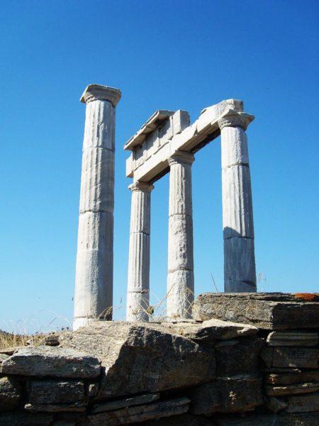 Reste des Hermes Tempels auf Naxos