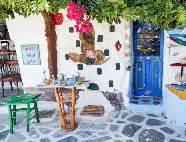 kleines Geschäft in Amorgos Altstadt