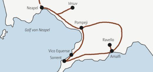 In acht Tagen die Höhepunkte am Golf von Neapel entdecken
