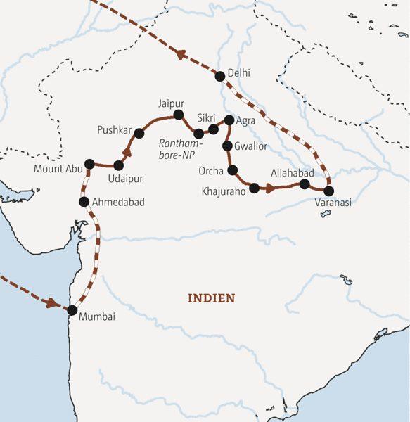 Indien Rundreisen 2016 / 2017