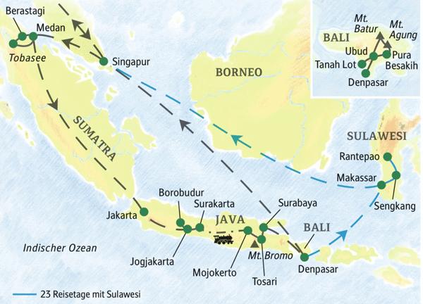 Die Höhepunkte der Inselwelt Indonesiens