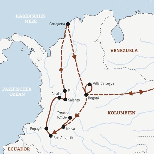 Kolumbien Rundreisen 2016 / 2017