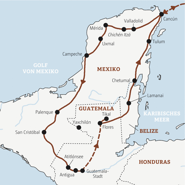 16-tägige Rundreise zu Maya-Highlights