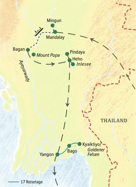 Unsere umfassende Studienreise nach Myanmar mit allen Höhepunkten