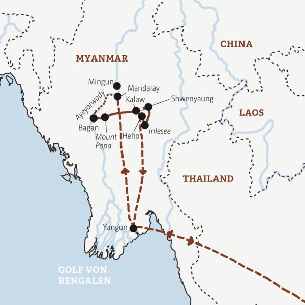 Alle Höhepunkte Myanmars in 13 Tagen: Mandalay