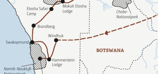 Rundreise von der Namibwüste durch den Caprivistreifen zu den Viktoriafällen