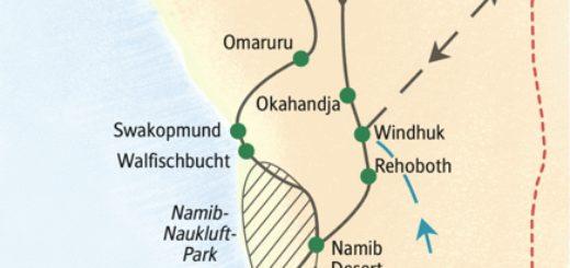 Zwölftägige Studienreise zu den wichtigsten Sehenswürdigkeiten in Namibia