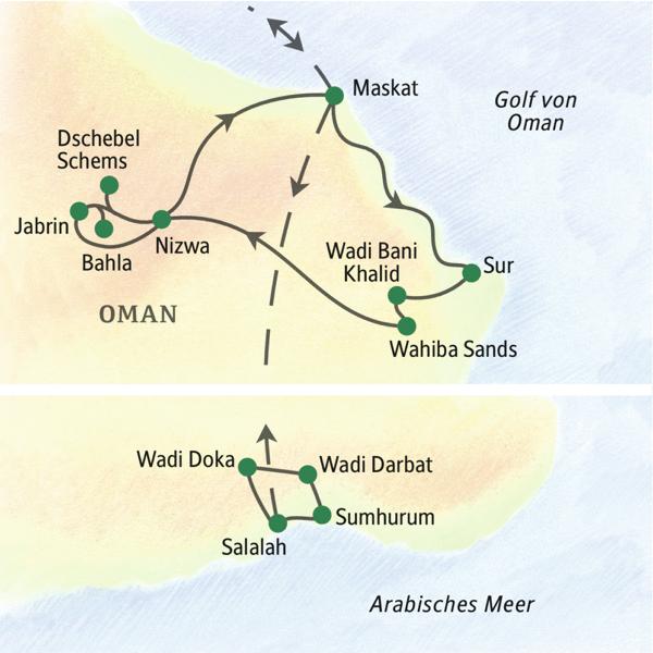 Oman gefuehrte Rundreisen 2019