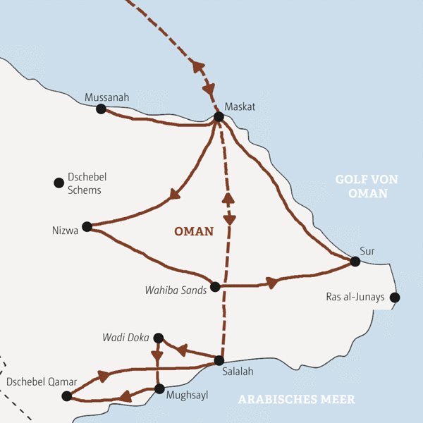 Oman Rundreisen 2016 / 2017
