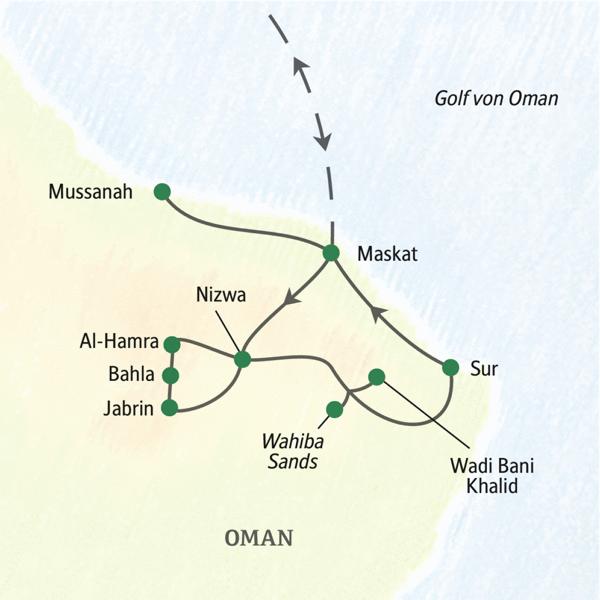 Kompakte Rundreise zu den Höhepunkten des Omans