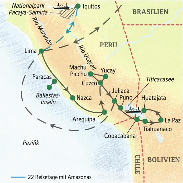 Alle Höhepunkte Perus und ein Abstecher nach Bolivien