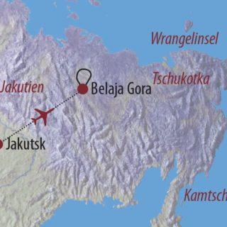 Karte Reise Russland | Jakutien Zu den Granittürmen von Ulachan-Sys 2019