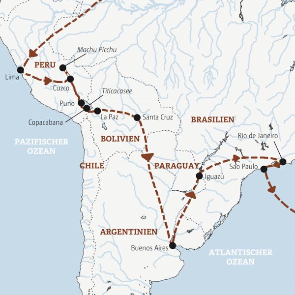 Südamerika Rundreisen 2016 / 2017