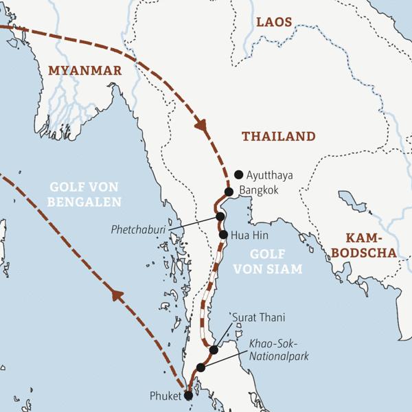 Über Land mit Bus und Zug durch Südthailand – von Bangkok bis Phuket