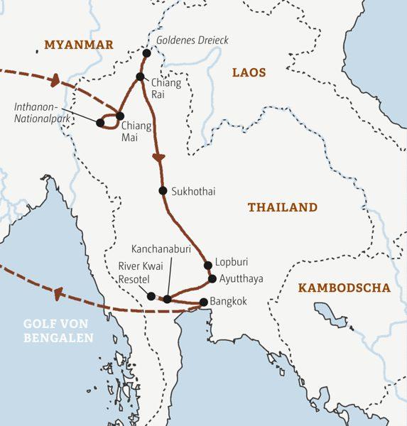 Thailand Rundreisen 2016 / 2017
