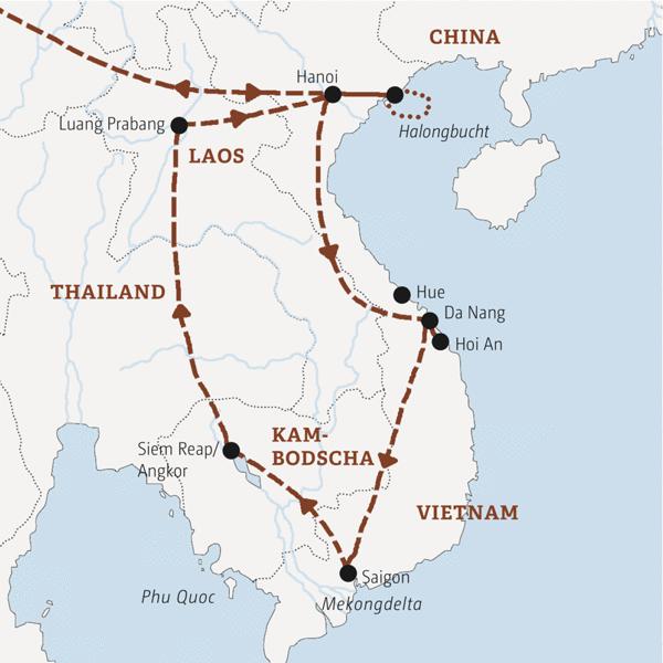 Vietnam – Kambodscha – Laos Rundreisen 2016 / 2017