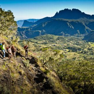 Ausblick auf die nordöstlichste Caldera Piton des Neiges - Paul Sutton