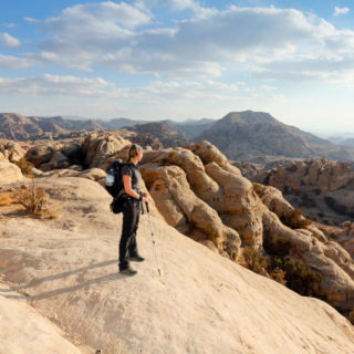 Wanderin auf dem Wadi-Araba-Trek - Christiane Flechtner