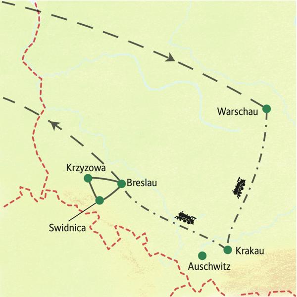 Polen Karte 2019.Rundreisen Polen Warschau Krakau Breslau Studienreisen