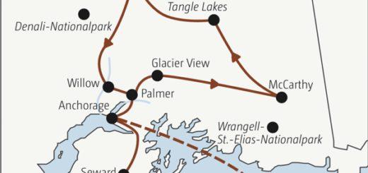 Knapp zweiwöchige Abenteuerreise zu den Höhepunkten von Alaska: kalbende Gletscher