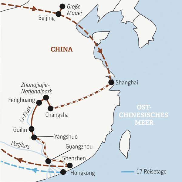 China Rundreisen junge Leute 2019