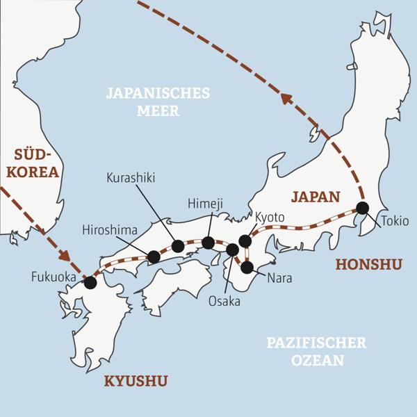 Japan Rundreisen junge Leute 2019