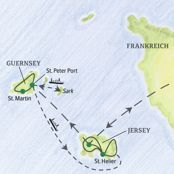 Drei Übernachtungen auf Guernsey