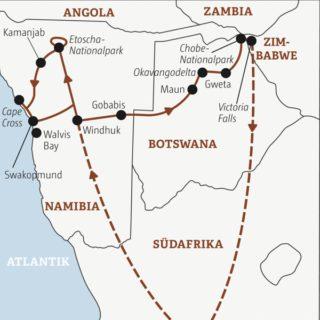 Ein afrikanischer Traum: in 18 Tagen im Safari-Lkw vom Atlantik zu den Viktoriafällen Young Traveller