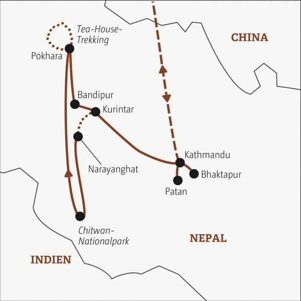 Gut zweiwöchige Rundreise zu den Höhepunkten des Himalayareiches für Traveller zwischen 20 und 35 Young Traveller