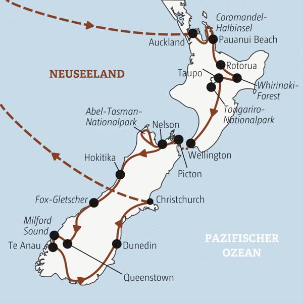 Once in a lifetime: Neuseeland komplett von Nord nach Süd in 22 Tagen Young Traveller