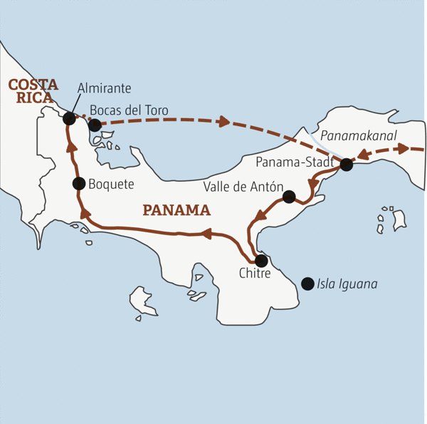 Zweiwöchige Abenteuerreise zu Panamas Highlights: von Panama-Stadt durch den Bergnebelwald bis zu dem Karibiktraum Bocas del Toro Young Traveller