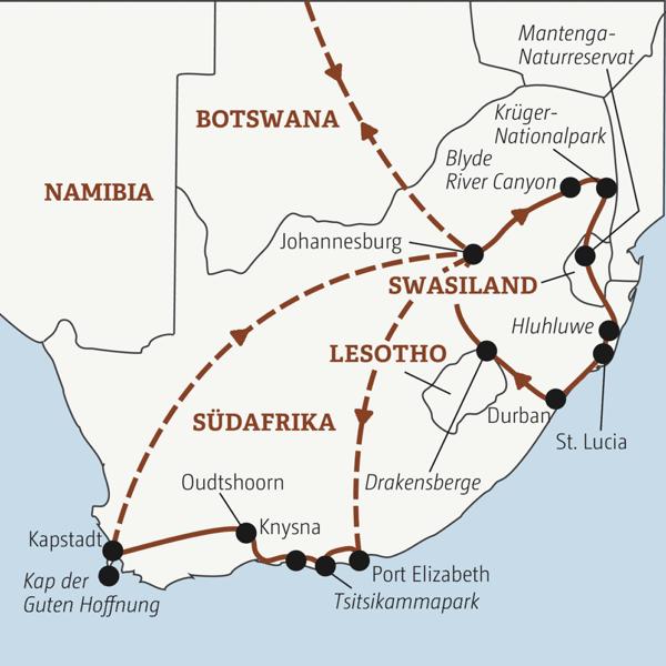 21 Tage Südafrika komplett: vom Krüger-Nationalpark bis Kapstadt Young Traveller