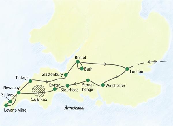 Den Landschaftsgarten von Stourhead und die Küsten von Cornwall erleben