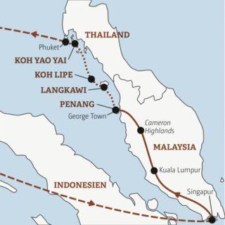 Inselhüpfen: Penang – Langkawi – Koh Lipe – Koh Yao Yai – Koh Phi Phi (auf Wunsch) – Phuket Young Traveller
