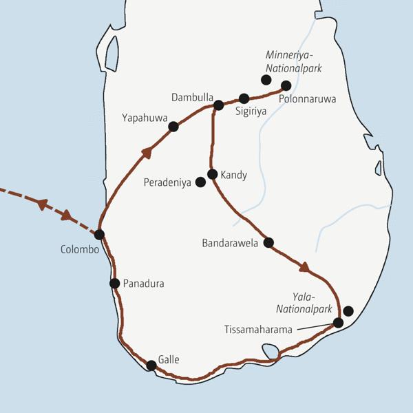 Sri Lanka Rundreisen 2016 / 2017