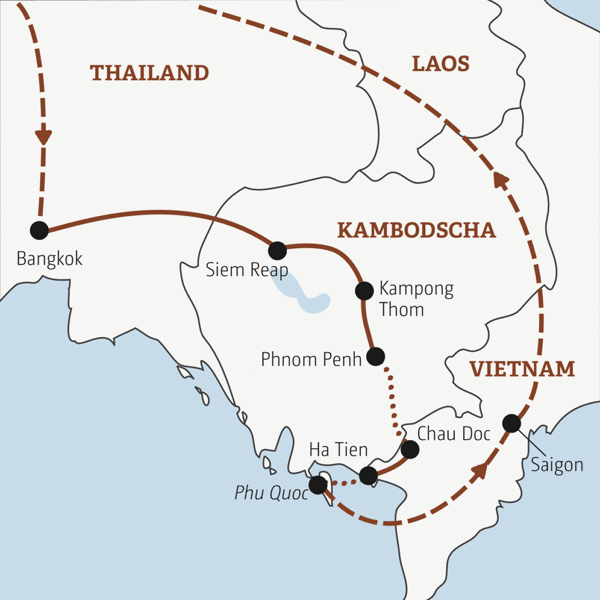 Thailand – Kambodscha – Vietnam Rundreisen junge Leute 2019