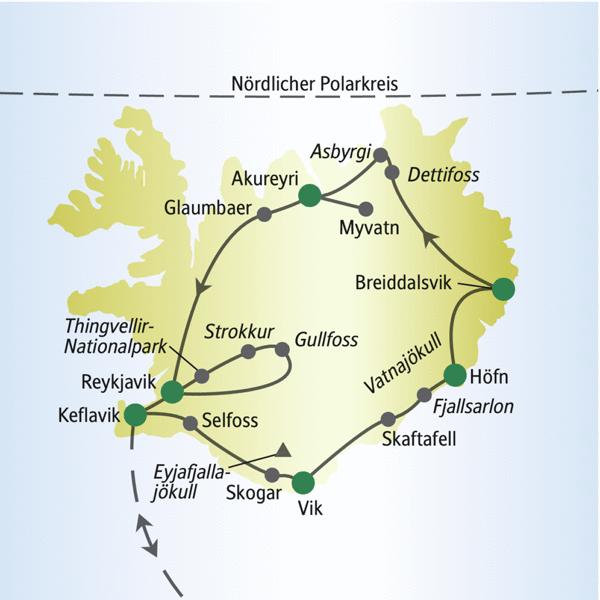 Flughafen D303274sseldorf Karte.Karte Island Ringstrasse