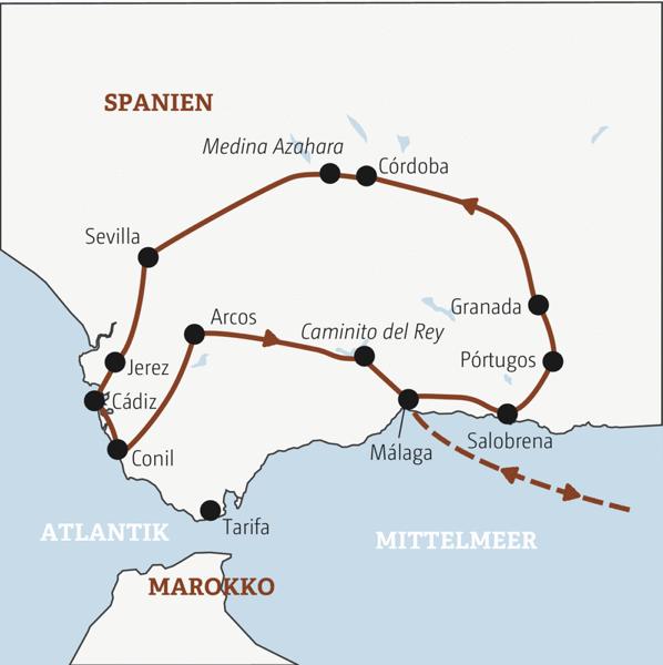 Andalusiens Highlights zwischen Atlantik und Mittelmeer in knapp zwei Wochen intensiv erleben Young Traveller