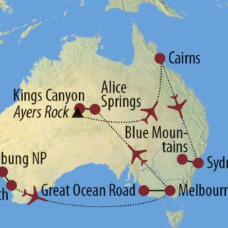 Karte Reise Australien Im Land des Bumerang | 2020 2020