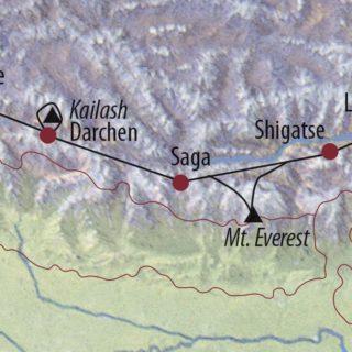 Karte Reise China • Tibet Rückkehr zum Kailash: Pilgern auf dem Dach der Welt 2020