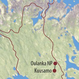 Karte Reise Finnland Nordlichter, Rentiere und Baumtrolle mit Hermann J. Netz 2020