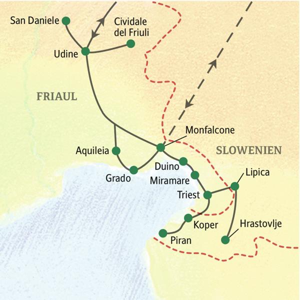 Abwechslungsreiche Studienreise ins Friaul mit Ausflügen nach Slowenien
