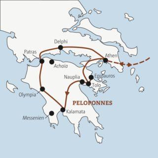 Zehn Tage Bilderbuch-Griechenland – zwischen antiken Tempeln