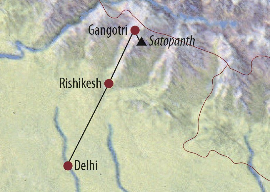 Karte Reise Indien | Garhwal Satopanth (7075m) 2020