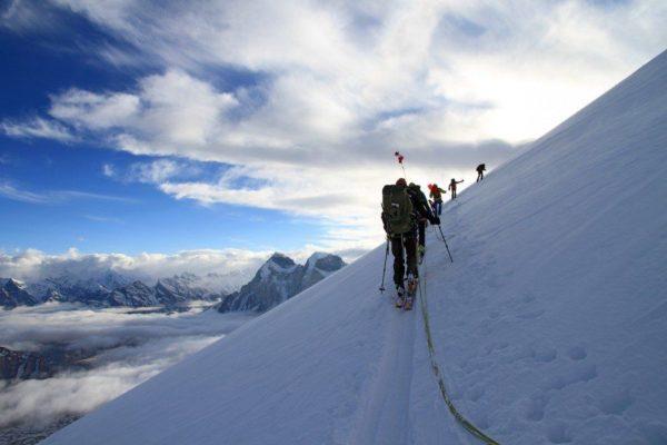 Gipfelaufstieg am Kedar Dome in ca. 6300m Höhe