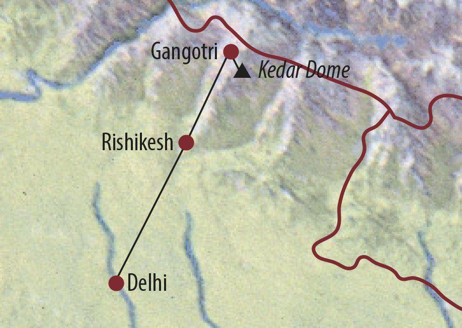 Karte Reise Indien Kedar Dome (6831m) 2020