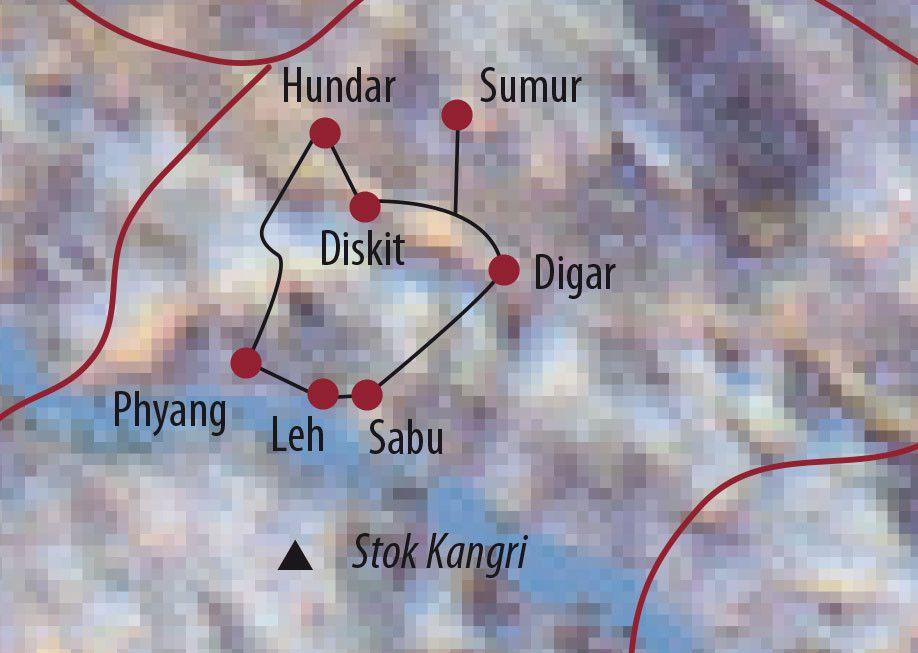 Karte Reise Indien | Ladakh Zu Fuß ins Nubra Valley 2020
